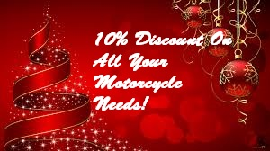 Motorcycle Accessories at 10% discount